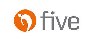 """Logo """"five"""" Rücken- und Gelenkkonzept"""